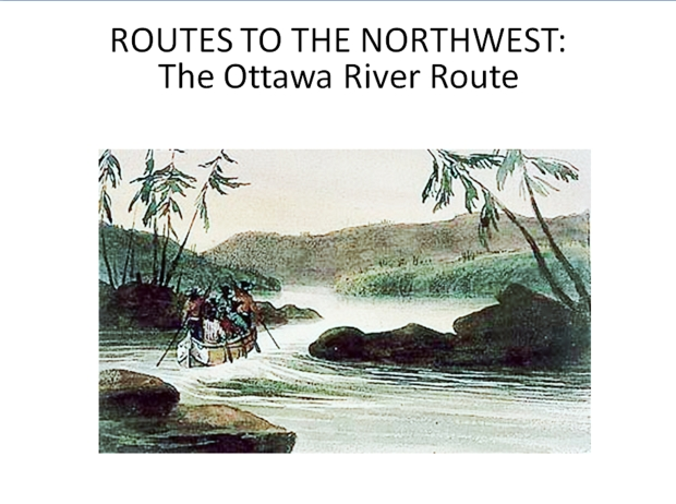 Rapids on the Ottawa River above Iron Decharge. National Archives of Canada. Watercolour by Philip John Bainbrigge c.1838