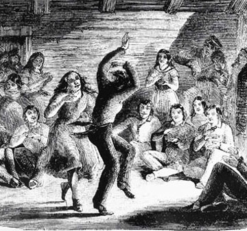 Metis Dancing. Minnesota Historical Society, 3360.