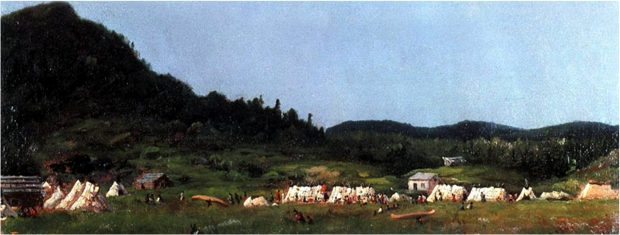 Camp Scene at Grand Portage, 1857, by Eastman Johnson. St. Louis County Historical Society, Dulth, Minn.