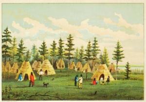 Illustration by E.S. Schrapnel in Thomas Conant, Upper Canada Sketches. Toronto: William Briggs. 1898, p.84.