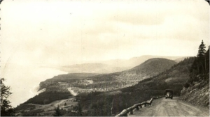 Early photo Cabot Trail Cape Smokey, photographer unknown.