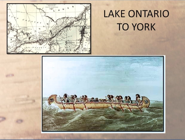 North West Canoe on Lake Ontario National Archives of Canada / Watercolour by Mrs M. M. Chaplin / C-873