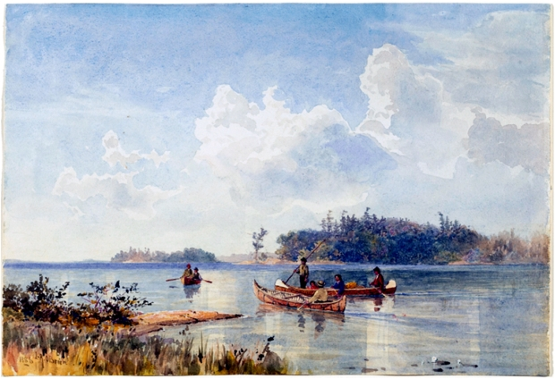 Among the Islands of Georgian Bay, 1886. Lucius Richard O'Brien (Canadian) Watercolour, watercolour on paper, 26.7 x 39.4 cm. Art Gallery of Ontario.