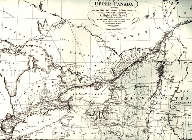 A Map of the Province of Upper Canada, 1813. Smyth, David William.
