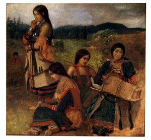 Eastman Johnson, Ojibwe Women, 1857, Permanent Collection of St. Louis County Historical Society, Duluth, Minnesota