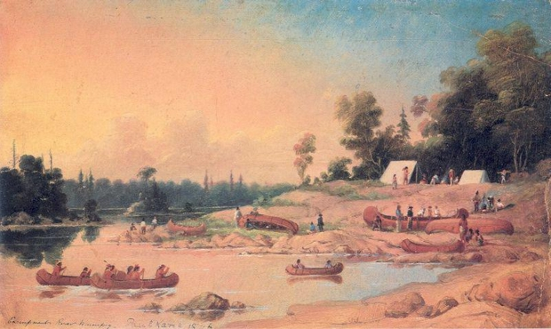 Encampment, Winnipeg River (1846), by Paul Kane