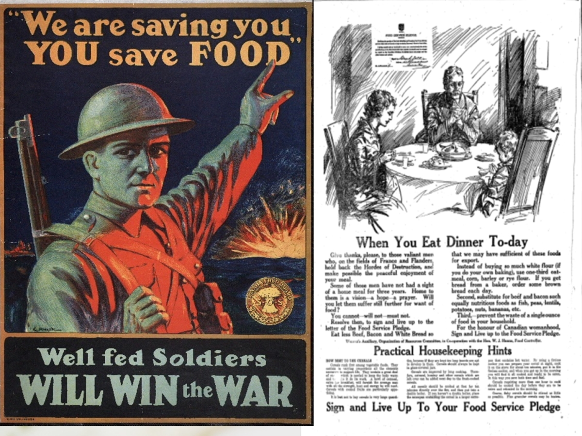 Wartime poster and ad from Toronto Star Sept 19 1917