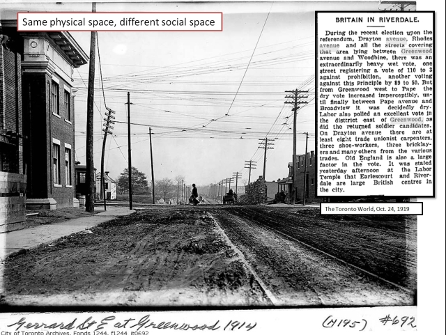 Looking east on Gerrard Street east from Greenwood Avenue towards Coxwell Ave, 1914.