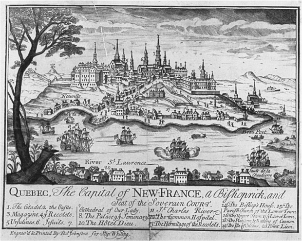 Quebec City before its capture by the British in 1759 ID #20670 Credit: National Archives of Canada / C-43483
