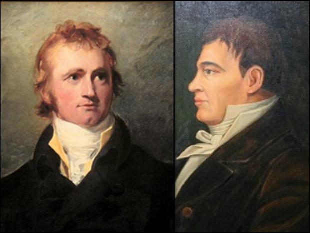 Alexander Mackenzie left. Simon Fraser right.