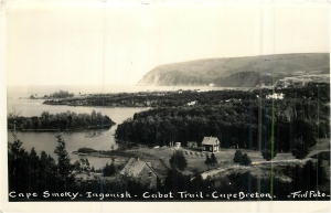 1936 Cape Smokey, Ingonish. Photographer unknown. Fad Foto Company of Gallipolis, Ohio.