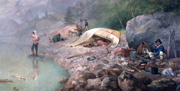 Voyageurs at Dawn, painted in 1871 by Frances Anne Hopkins