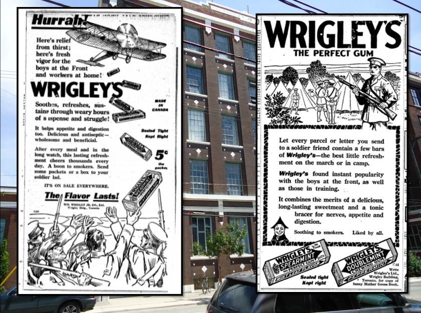 Leslieville: Chewing Gum Capital of Canada. Toronto World, Dec. 23, 1916; Wrigley ad, Oct. 2, 1916