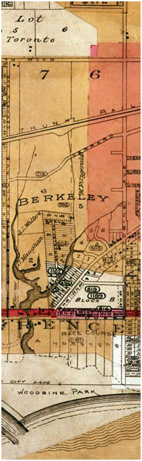 East of Coxwell Avenue, Goad's Map, 1903.