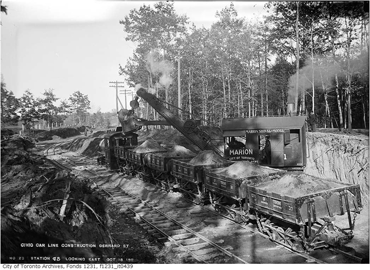 Building Streetcar Line. Courtesy of the Toronto Public Archives.