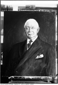 Portrait painted by J. Russell of Mayor Sam McBride, June 24, 1937, City of Toronto Archives