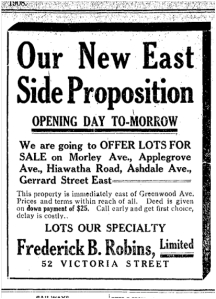 Toronto Star, March 4, 1908