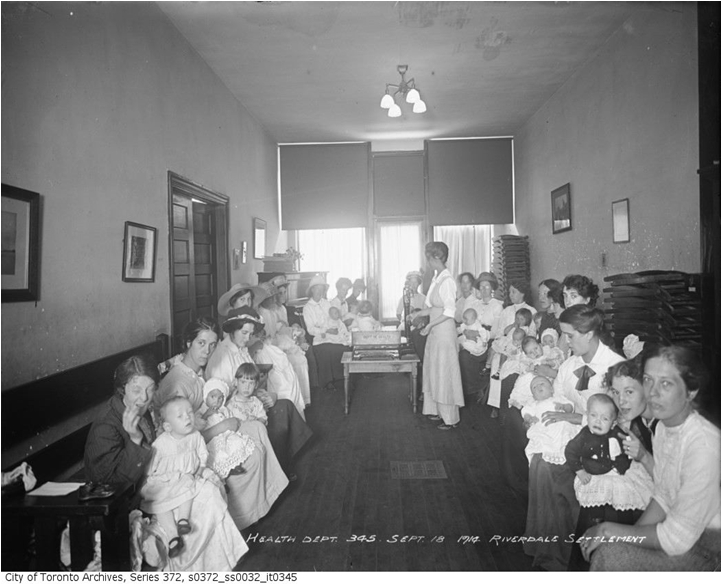 Riverdale Settlement House, 1471-73 Gerrard St.E. Infant Clinic, 1910