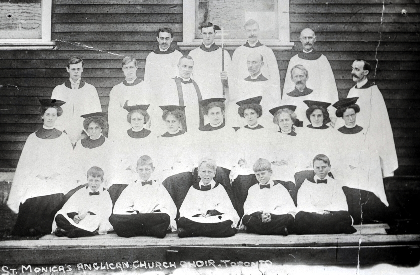 St. Monica's choir, about 1908. Courtesy of the Toronto Public Library Digital Collections.
