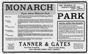 The Toronto Sunday World, April 19, 1913 Monarch Park