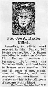 Toronto Star, Nov 2. 1916