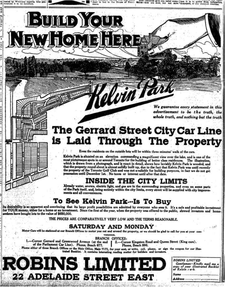 Toronto Star, Oct. 25, 1912