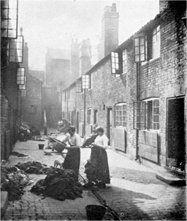 Typical English slum c 1913
