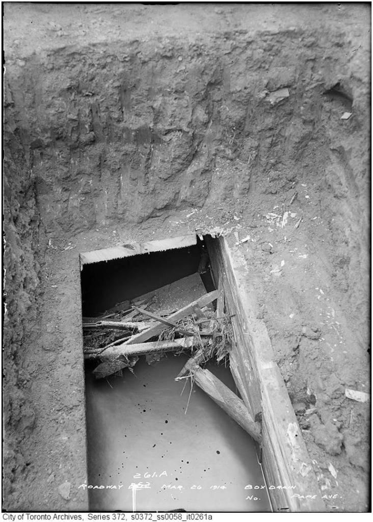 Hewards Creek in a box drain