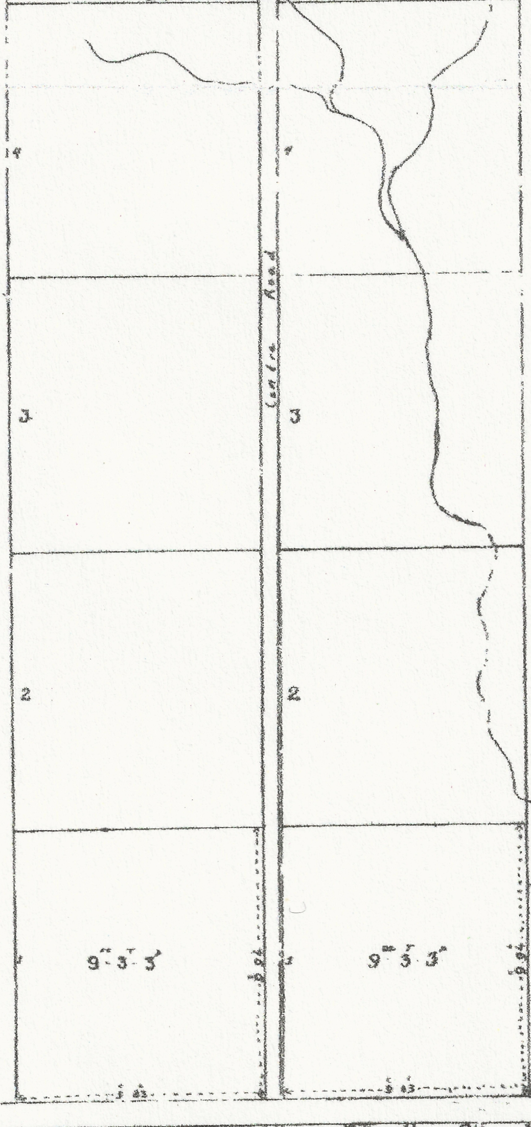 Southern Portion 1884 PLAN OF SURVEY of Lot 13 and Broken Front
