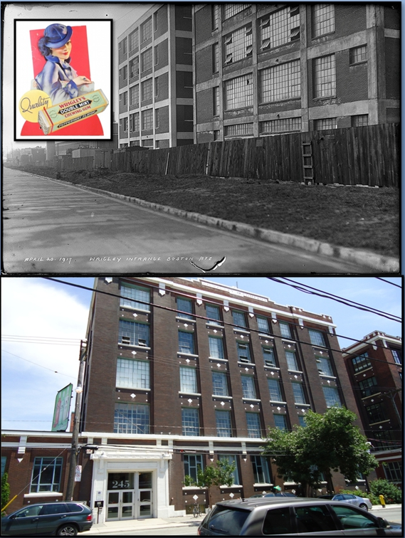 Wrigley factory Then and Now