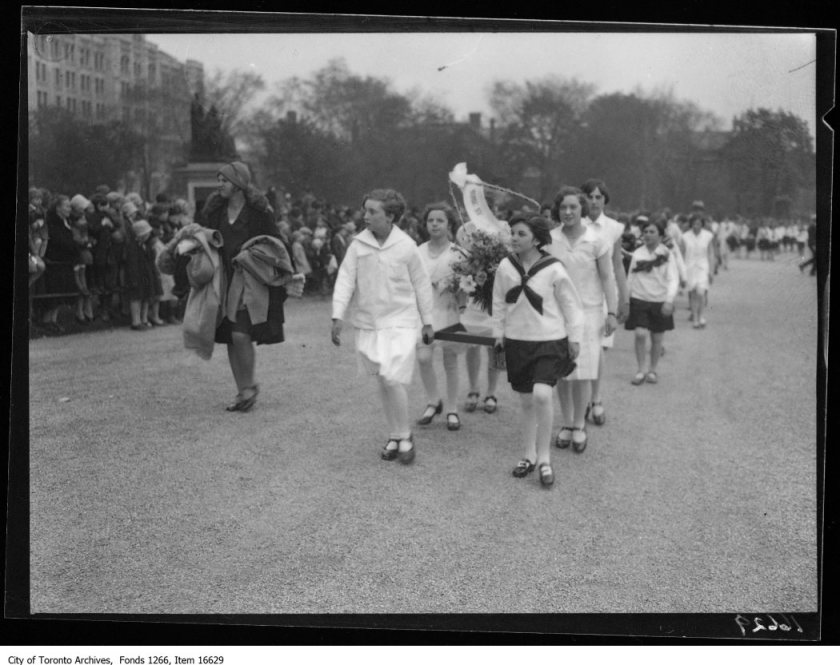Empire Day parade, Morse Street School flower party. - May 23, 1929