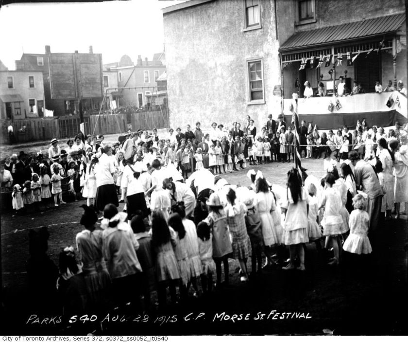 Morse Street Playground — Festival August 28, 1915 City of Toronto Archives