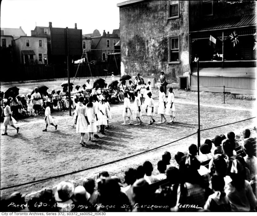 Morse Street Playground FestivalAugust 19, 1916 From the City of Toronto Archives