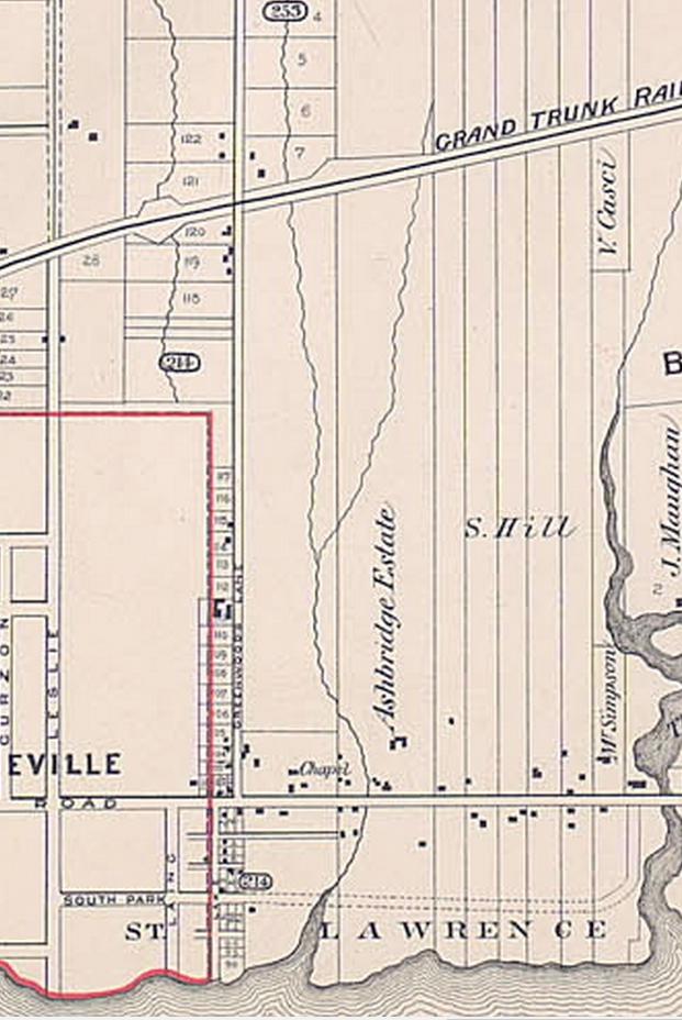 1884 Erie Terrace in Goads Atlas