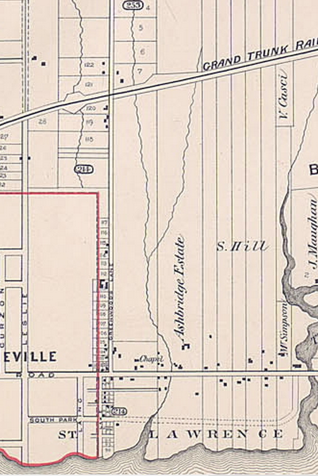 1884 Erie Terrace in Goads Atlas