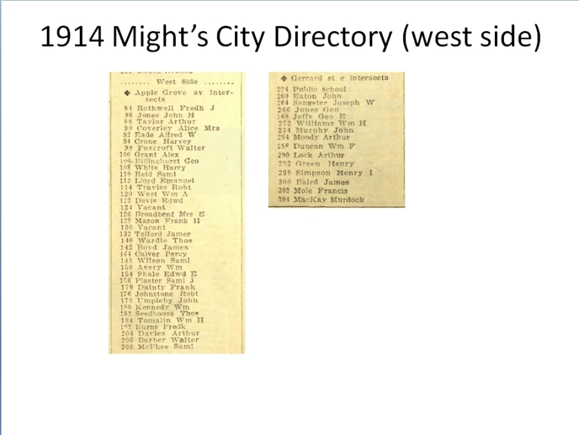 1914 M West