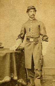Canadian citizen Anderson Ruffin Abbott in a U.S. Army Uniform, 1863 Image Courtesy of the Toronto Public Library