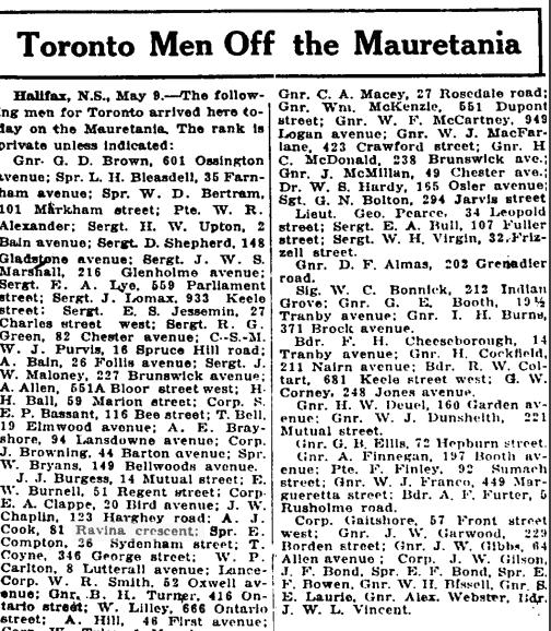 A J Cook Ravina Globe May 10 1919