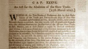 Act of the British Parliament Abolishing the Slave Trade March 15, 1907