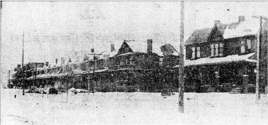 Taken on Jones Ave near Danforth Ave, on January 15, 1912 Hastings Creek, The Pocket