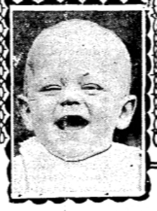 Baby contests were very popular. Here is Allen Eisenhardt 32 Woodfield Rd Sept 4 1926