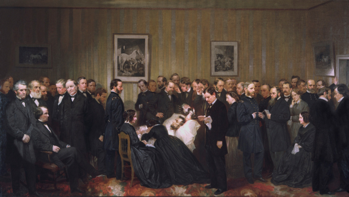 The Last Hours of Abraham Lincoln 1868 Alonzo Chappel 1828-1887 Oil on canvas 52 x 98 in. Chicago History Museum purchase 1971.177, ICHi-52425 - See more at: http://www.civilwarinart.org/items/show/49#sthash.ZM7woJZS.dpuf