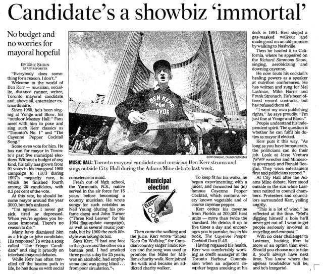 Toronto Star, Oct. 19,2000