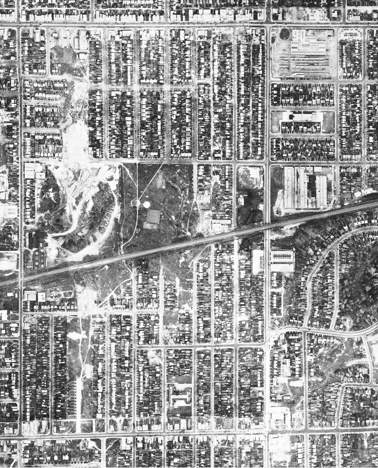 A 1947 Dominion of Canada aerial photo.