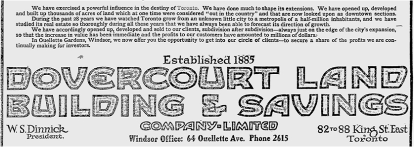 The Evening Record, Dec. 6, 1913, a Windsor paper.