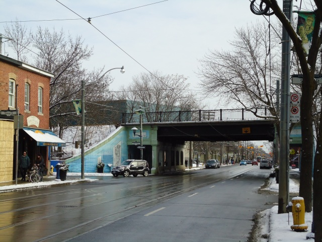 Looking east along Queen Street from Strange Street. Photograph by Joanne Doucette, Winter, 2013