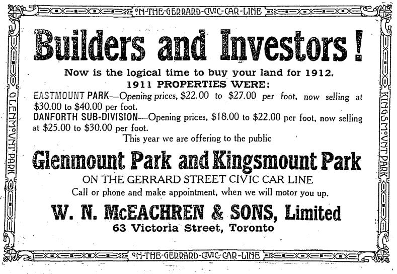 Toronto Star, February 13, 1912