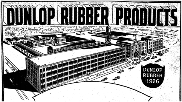 The 1920 plant in a Dunlop ad of 1926.