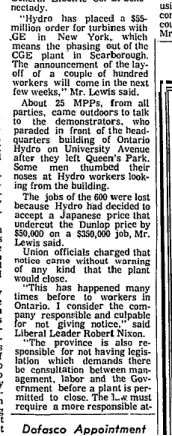 Globe and Mail, March 12, 1970