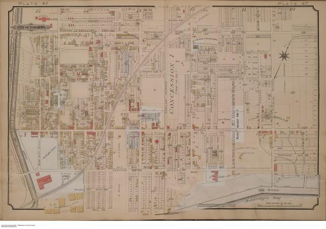 Goad's Atlas, Plate 47, 1903 courtesy of http://goadstoronto.blogspot.ca/